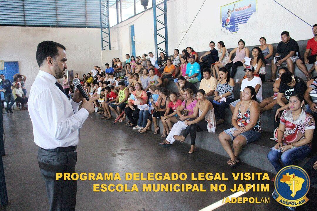 Programa Delegado Legal leva palestra de prevenção às Drogas e Bullying a Escola Municipal Vicente de Paula