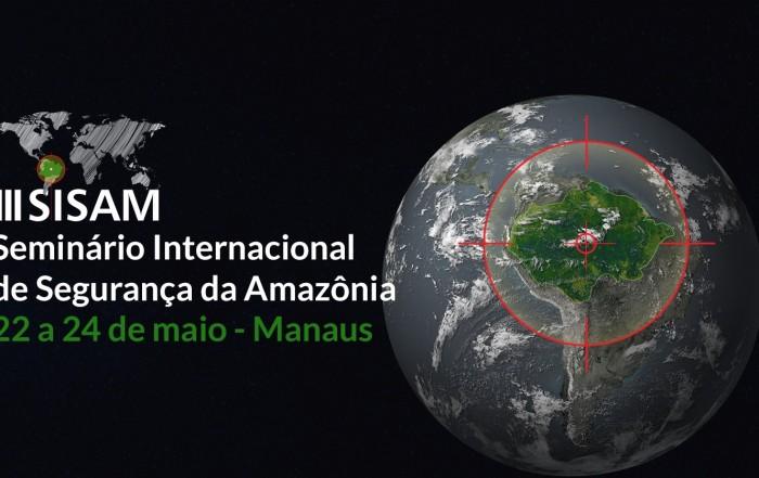 """De 22 a 24 de maio de 2019, a capital amazonense a terceira edição do Seminário Internacional de Segurança na Amazônia (Sisam). Com o tema """"Fronteira e Segurança no Espaço Amazônico"""", o evento ocorre no Tropical Hotel, no bairro Ponta Negra, zona Oeste da cidade, e é voltado paraprofissionais da área de segurança, acadêmicos, gestores públicos e integrantes da sociedade civil para discutir os problemas de segurança da região a partir de um enfoque interdisciplinar por meio de painéis, conferências e palestras."""