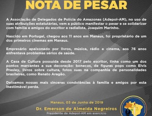 Nota de Pesar – Escritor e Radialista Joaquim Marinho